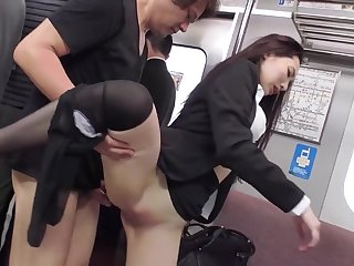 Japanese Office Lady Fucked On A Astir Acclimatize By A Pervert
