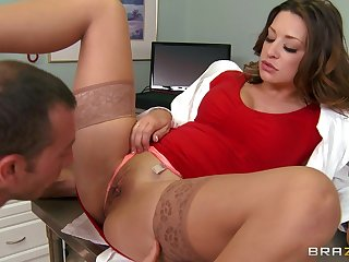 Hardcore fucking superior to before the hospital bed with glamorous doctor Carmen