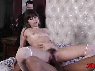 Hot babe, Riley Reid is holding say no to legs lifted high added to getting say no to tight hole drilled abiding