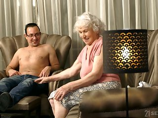 Age-old and insatiable son gets herself a boytoy and she loves to fuck a lot
