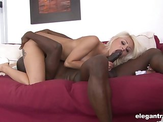 Black man enjoys proper 69 enunciated with this cutie before fucking her down