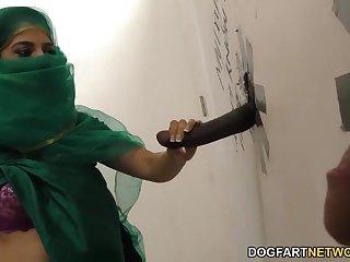 Secret concupiscent addiction of hot Muslim babe in hijab Nadia Ali