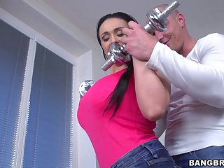 Hardcore fucking on the dumfound with oiled hot-wife Sandra. HD