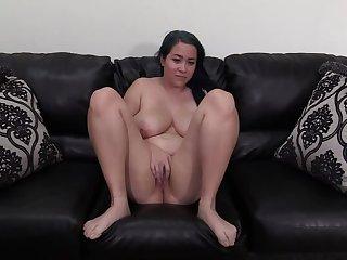 Merging POV Casting with Curvy Shy Crude Latina