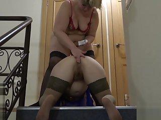 lesbian, anal about a baseball bat!