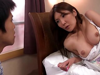 Japanese babe in arms hardcore porn video with handsome lad