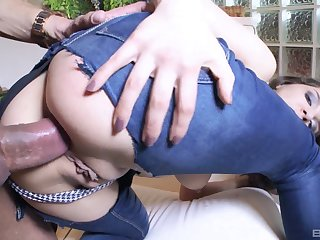 Henessy gets anal fucked in doggy and she loves it