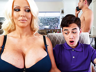 Be in charge stepmom interested to taste schoolboy's dick