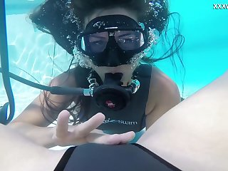 Underwater pussy licking is a scuttle words item and the girls are spicy hot